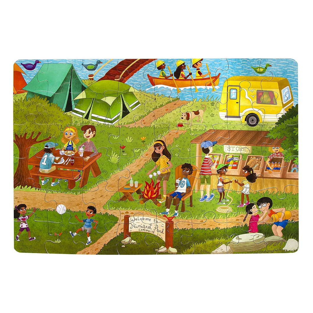 Camping Outdoors Jumbo 48-Piece Puzzle
