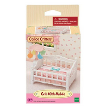 Load image into Gallery viewer, Calico Critters Crib with Mobile
