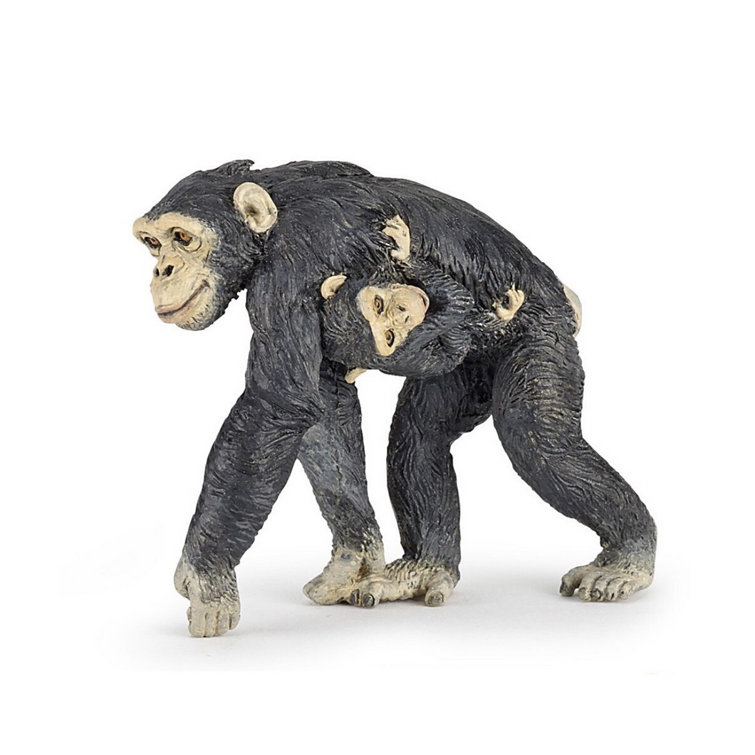 Chimpanzee Figure with Baby