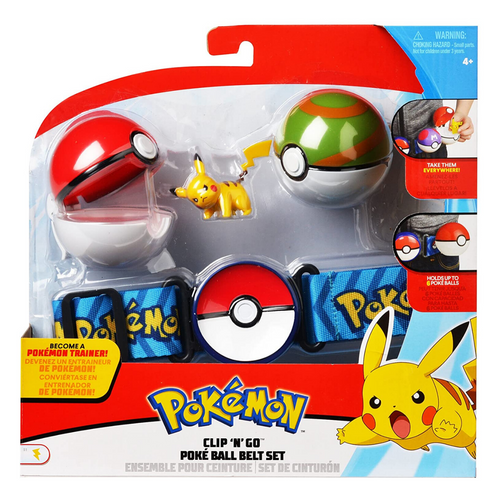 Clip 'N Go Pokeball Belt Set