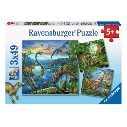 Dino Fascination 3-in-1, 49-Piece Puzzle