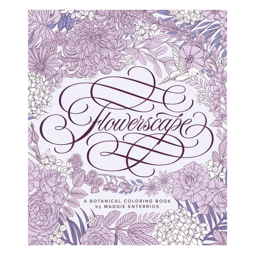 Flowerscape Coloring Book