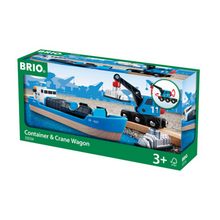Load image into Gallery viewer, BRIO Freight Ship and Crane