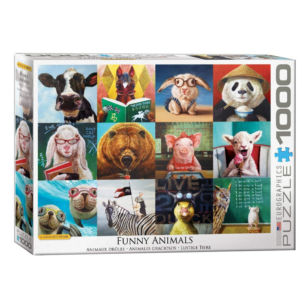 Funny Animals 1000-Piece Puzzle