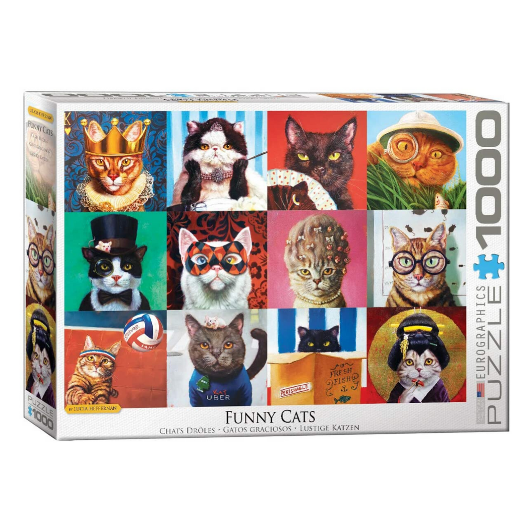 Funny Cats 1000-Piece Puzzle