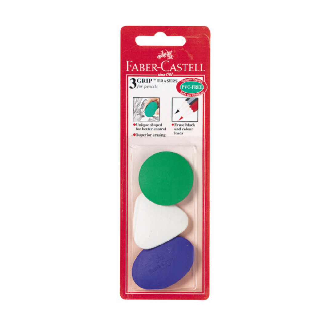 Grip Erasers 3 Pack
