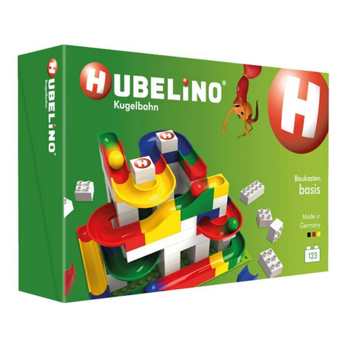 Hubelino Marble Run: 123-Piece Basic Building Box