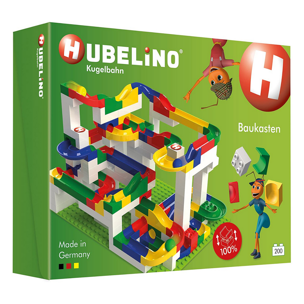 Hubelino Marble Run: 200-Piece Big Building Box