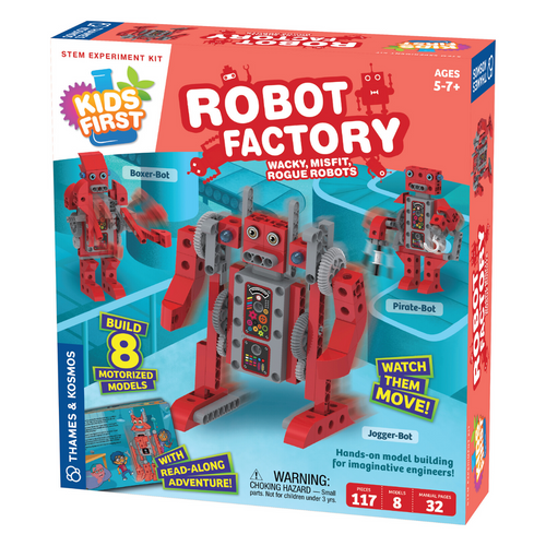 Kids First Robot Factory: Wacky, Misfit, Rogue Robots