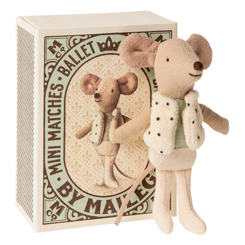 Little Brother Mouse Dancer in Matchbox