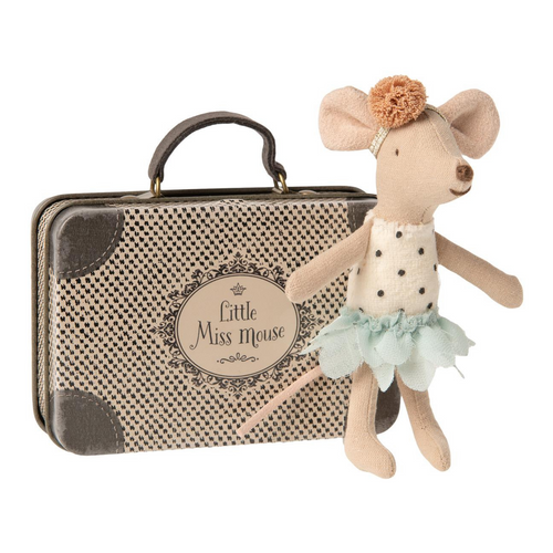 Little Sister Mouse in Suitcase