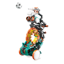 Load image into Gallery viewer,  Mech 5 robot kicking soccer ball
