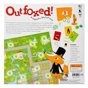 back of Outfoxed game box