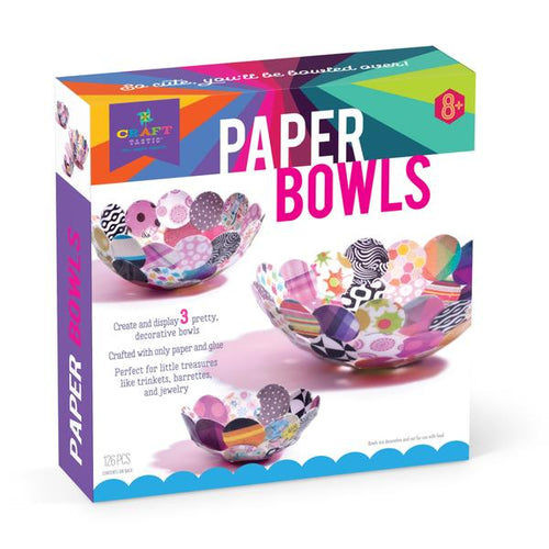 Paper bowl craft kit by Craft-tastic - box