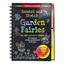 Load image into Gallery viewer, Scratch and Sketch Garden Fairies