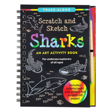 Load image into Gallery viewer, Scratch and Sketch sharks
