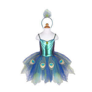 Pretty Peacock Dress & Headband