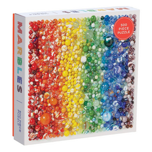 Rainbow Marbles 500 piece puzzle
