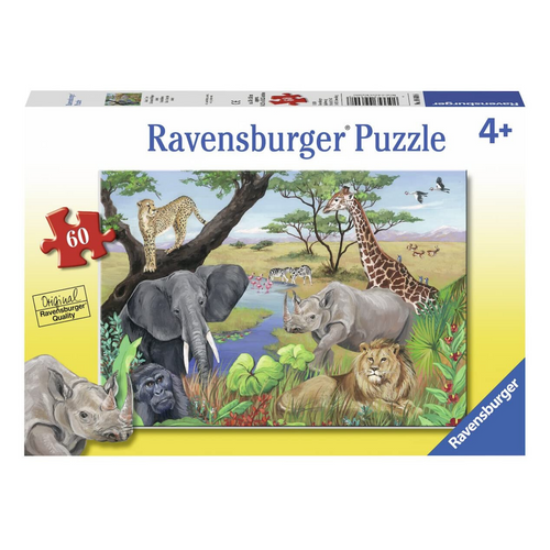 Safari Animals 60-Piece Puzzle