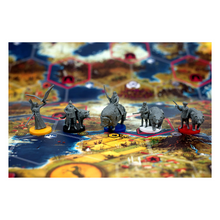 Load image into Gallery viewer, Scythe board with game pieces