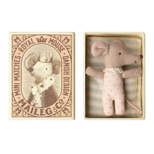 Sleeping Mouse in Matchbox