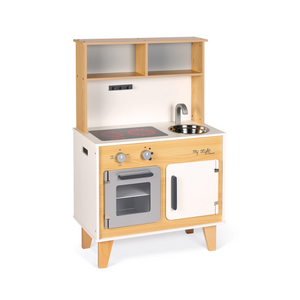 Small Wooden Kitchen with Customizable Stickers