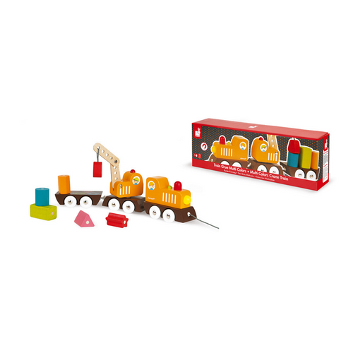 Multicolor Train Stacking & Pull Toy