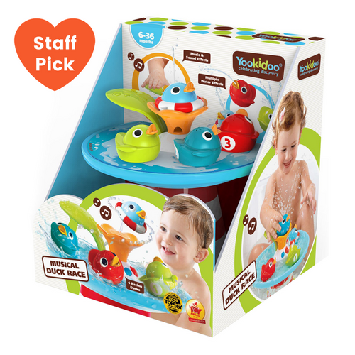 Musical Duck Race Bath Toy