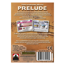 Load image into Gallery viewer, Terraforming Mars Prelude - back of the box