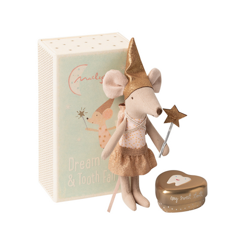Tooth Fairy Mouse with Gold Box