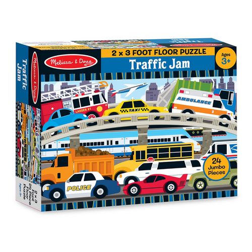 Traffic Jam 24-Piece Floor Puzzle