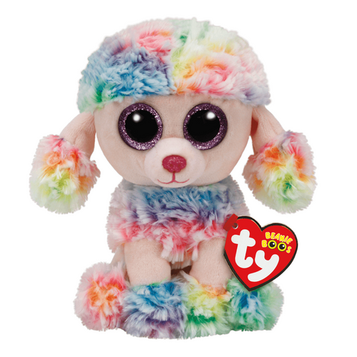 Beanie Boo Rainbow Multicolored Poodle