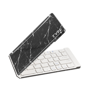 Portable keyboard black marble