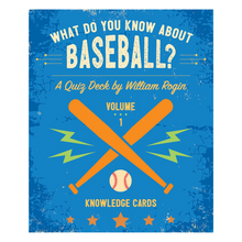 Load image into Gallery viewer, What Do You Know About Baseball? Knowledge Cards