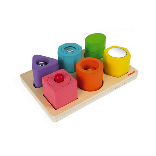 Wooden Shapes & Sounds Puzzle