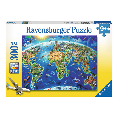 World Landmarks Map 300-Piece Puzzle