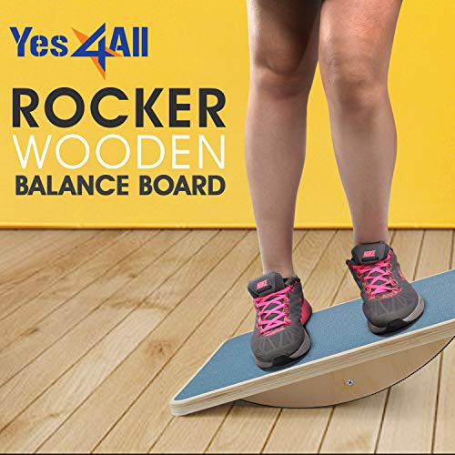 Yes4All Non-Slip Rocker Balance Board, 17.5""