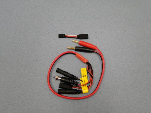 Charge Lead 4mm - Glow Starter,RX Pack,Fut/JR Tx
