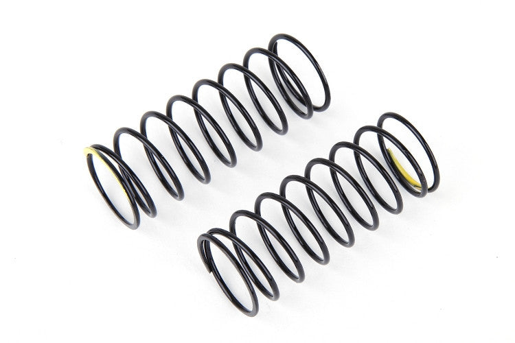 A215E  Rear Shock Spring Soft (Black/Yellow) (2)