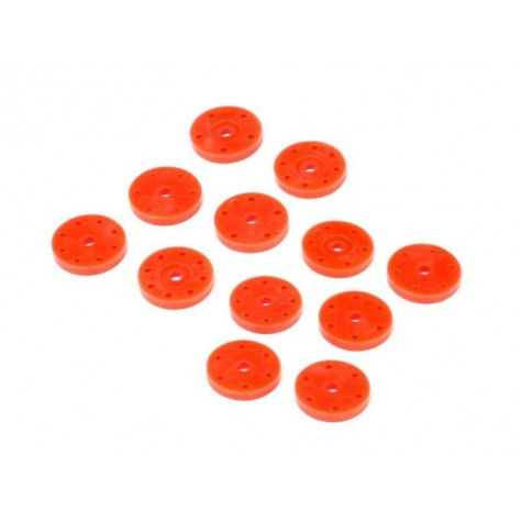 D819 / D819RS / E819  Shock Piston Set V2 (16mm/Orange/6 Pairs)