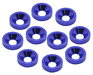 M4 Alloy Countersunk Washers - Blue