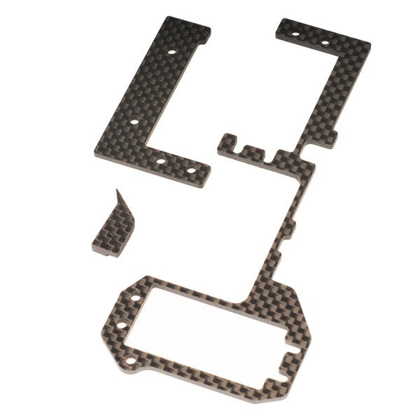 Carbon Radio Tray stiffener set for HB D812, D817, RGT8