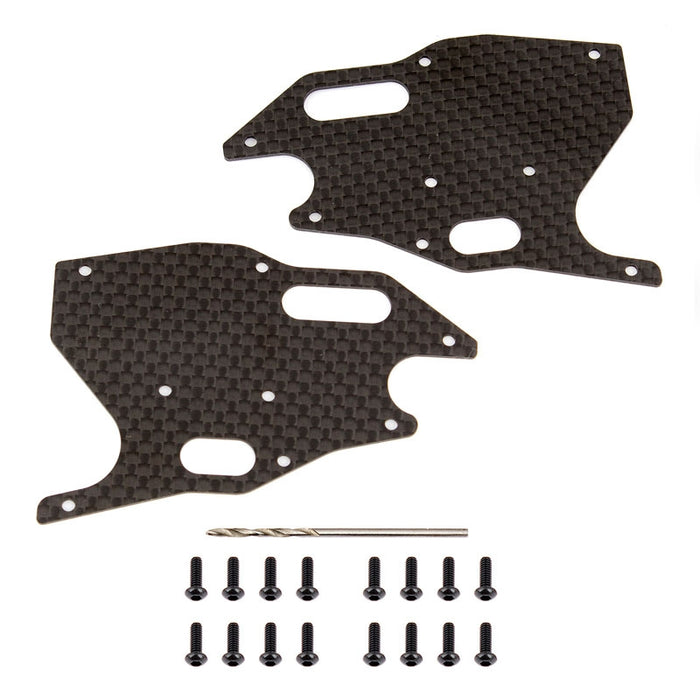 RC8B3.1 Factory Team Graphite Arm Stiffeners - Front