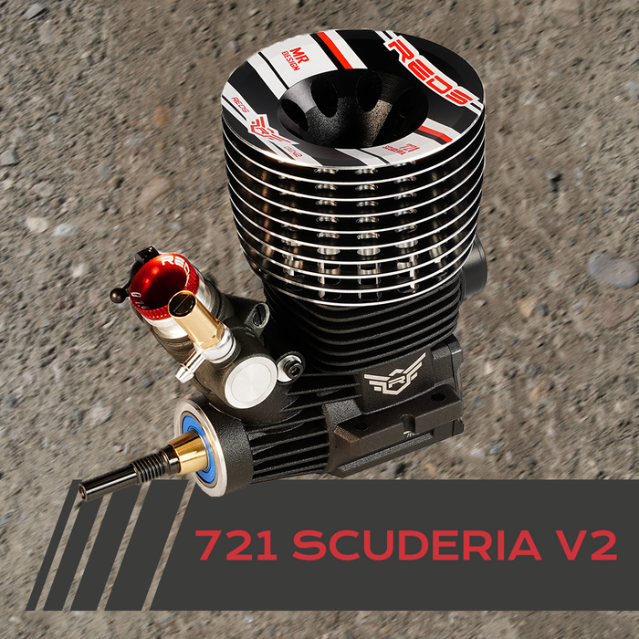 Scuderia 721S Gen2 DLC Ceramic Black Head 1/8th Off Road Engine