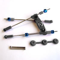 Throttle / Brake Linkage Set (Pre Assembled) - Black