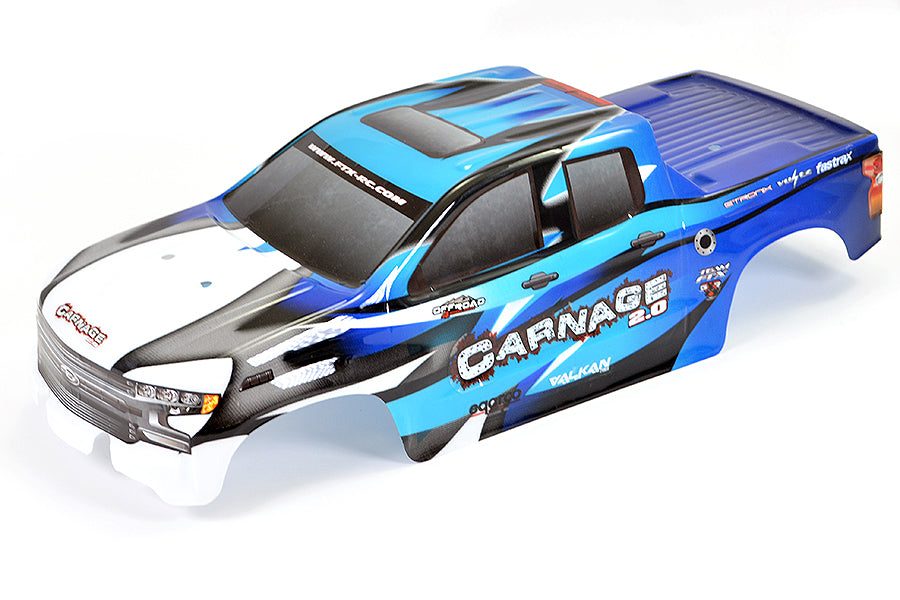 Carnage 2.0 1/10th Brushed Truck Ready To Run - Blue