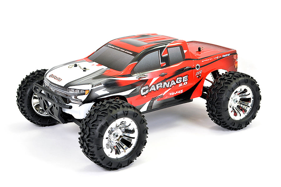 Carnage 2.0 1/10th Brushed Truck Ready To Run - Red