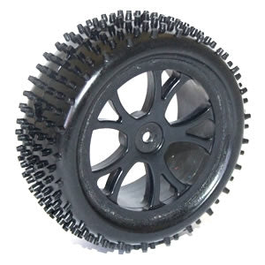 Vantage  Front Buggy Tyres Mounted on Black Wheels  [pair]