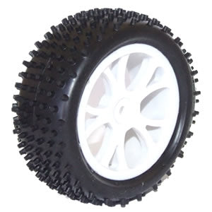 Vantage Front Buggy Tyres Mounted on White Wheels - 1pr
