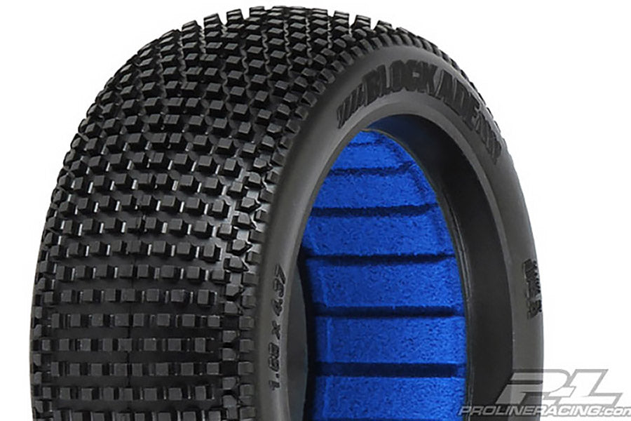 Blockade S4 Super Soft Long Wear 1/8th Off Road Buggy Tyres & Inserts - 1pr